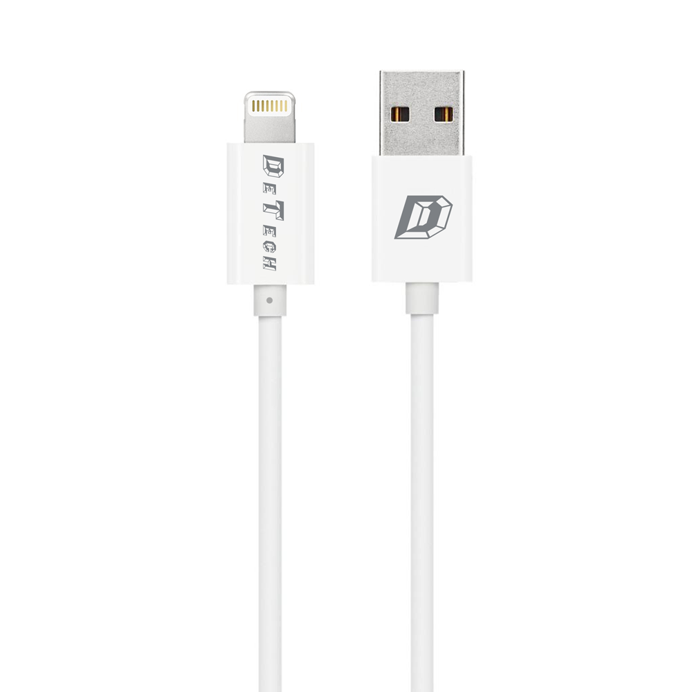 DeTech,Data cables  10pcs. For iPhone 5/6/7, 1.0m, White - 14136
