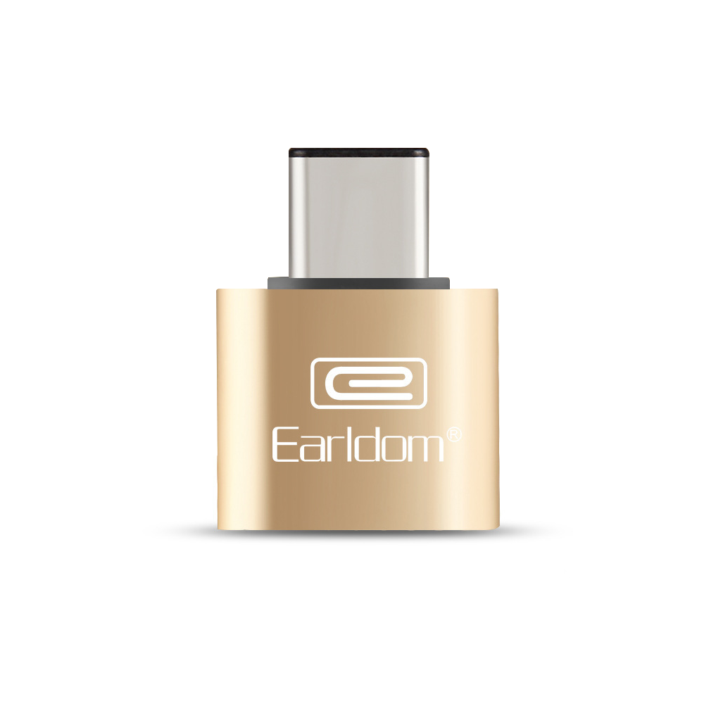 Earldom, OT18, Adapter, USB 3.0 F - Type-C, OTG, Gold - 14866