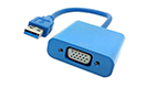 DeTech Adapter USB3.0 to VGA, Blue - 18164