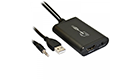 OEM Convertor, USB to HDMI, with Audio, Black - 18304