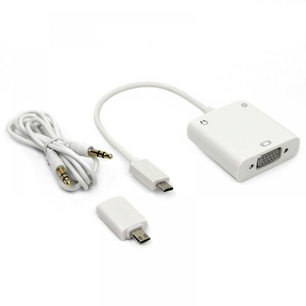OEM Convertor,MHL to VGA + Audio, White - 18292