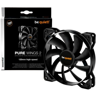 BE QUIET BL080 Pure Wings 2 120mm High-Speed 3-Pin, Fan speed-2.000RPM,35.9 dB(A)