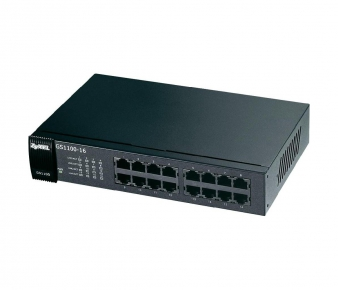 ZyXEL GS1100-16 Switch, 16-port GbE, unmanaged, Rack mountable