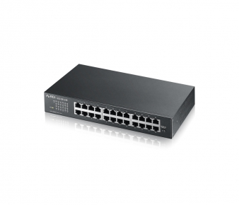 ZyXEL GS1100-24E Switch, 24-port GbE, unmanaged, Rack mountable