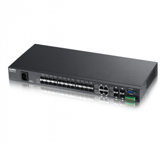 ZyXEL MES3500-24F Switch, 24x 100M SFP slot + 4x GbE SFP/RJ45, QoS, ACL, IGMP, VLAN,managed