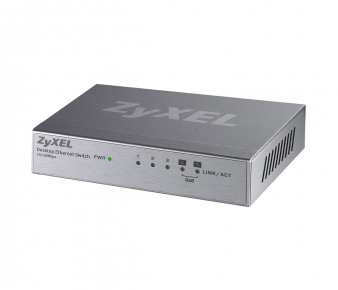 ZyXEL ES-105A v.3 Switch, 5-port 10/100Mbps, unmanaged, 2x QoS, Rack mountable