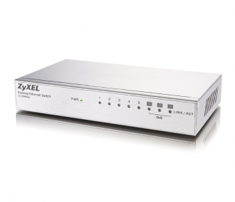 ZyXEL ES-108A v.3 Switch, 8-port 10/100Mbps, unmanaged, 3x QoS, Rack mountable