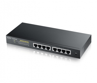 ZyXEL GS1900-8HP Switch, 8x GbE PoE+ port, WEB managed