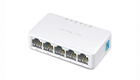 Mercusys MS105 Switch , 5-Port 10/100Mbps, Unmanaged, Desktop, Ultra-Compact Design