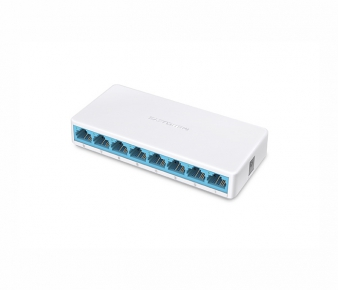 Mercusys MS108 Switch , 8-Port 10/100Mbps, Unmanaged, Desktop, Ultra-Compact Design