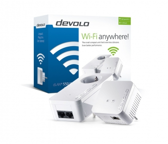 Devolo 9638 LAN 550 WiFi Starter Kit Powerline , AV500