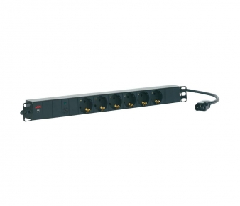 AEG 6000006831 Power strip PDU 10-2, 6x grounded GE outlets, Rackmount