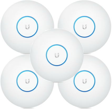Ubiquiti UAP-AC-LR-5 UniFi, 2.4/5GHz, 450/867Mbit, 22dBm, 3x3 MIMO, Indoor, 5 pack, PoE Not Included