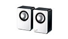GENIUS SP-Q120 2W BLACK / WHITE SPEAKERS FOR MP3, SMARTPHONE, IPOD 3.5MM