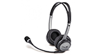 GENIUS HS-04B MULTIMEDIA HEADSET BLACK/SILVER