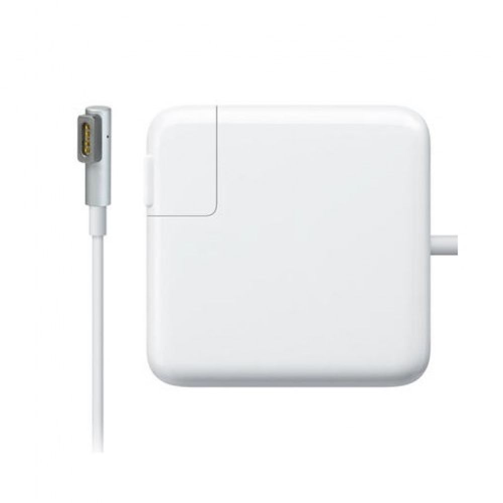 DeTech Laptop Adapter for Apple 60W 16.5V/3.65A Magsafe 1 magnetic 5 pin 2pin, White - 261
