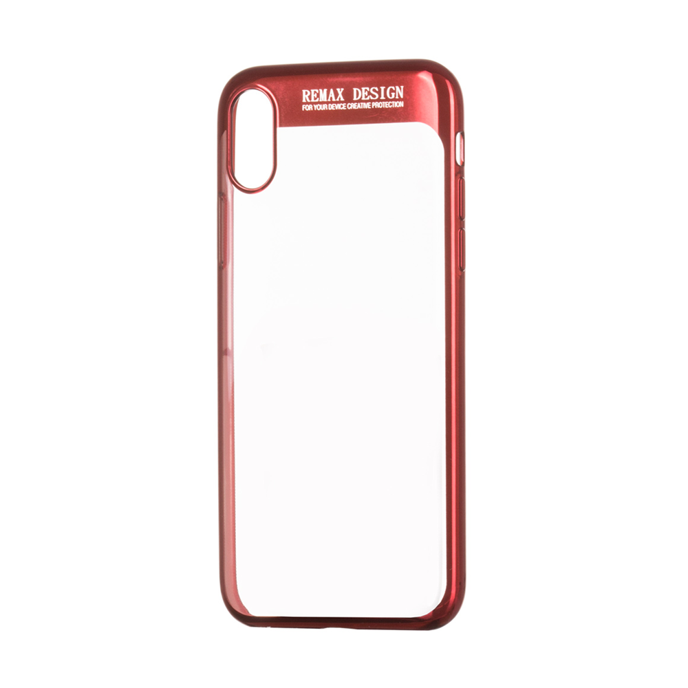 Remax Modi,Protector for iPhone X, TPU, Red - 51539
