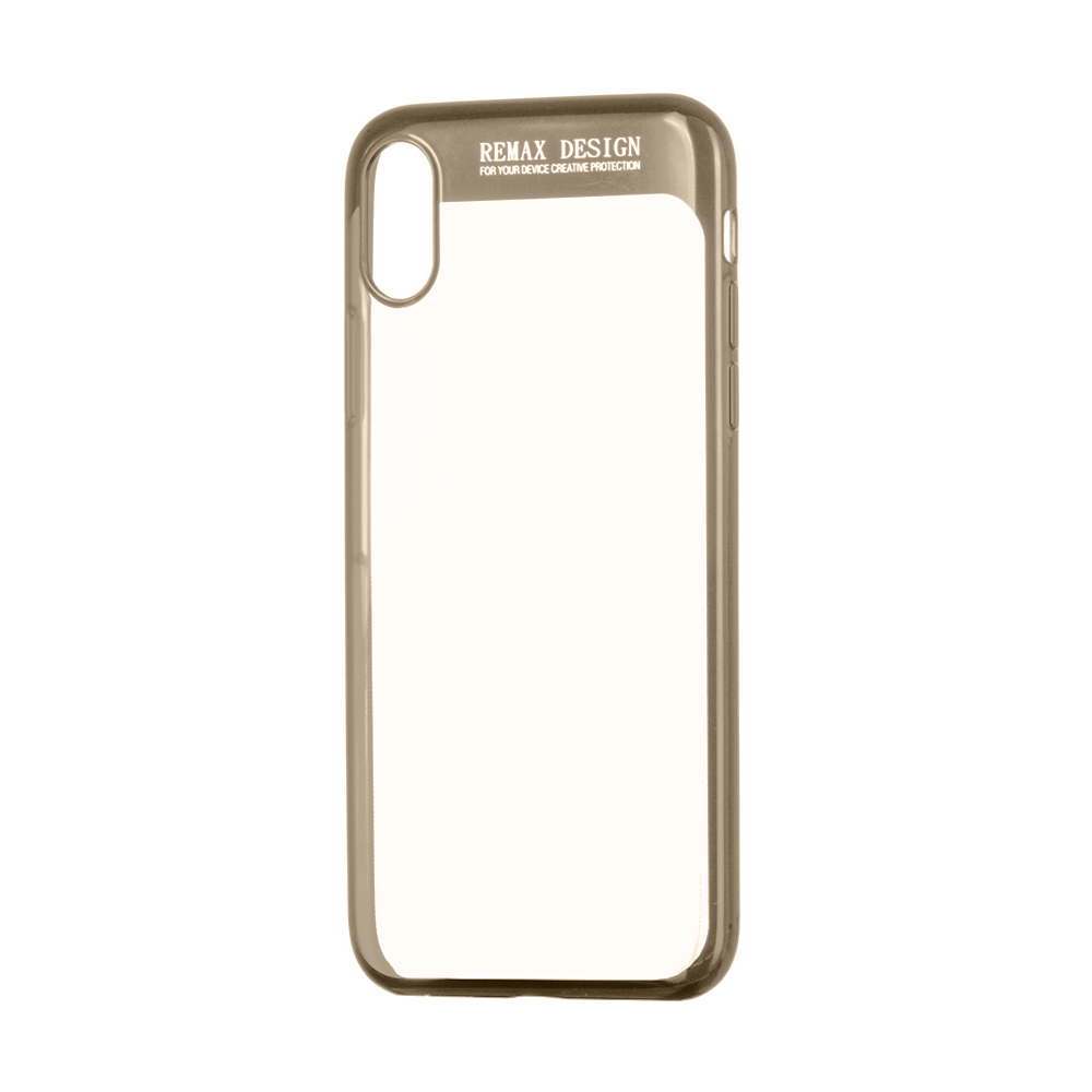 Remax Modi, Protector for iPhone X, TPU, Gold - 51541