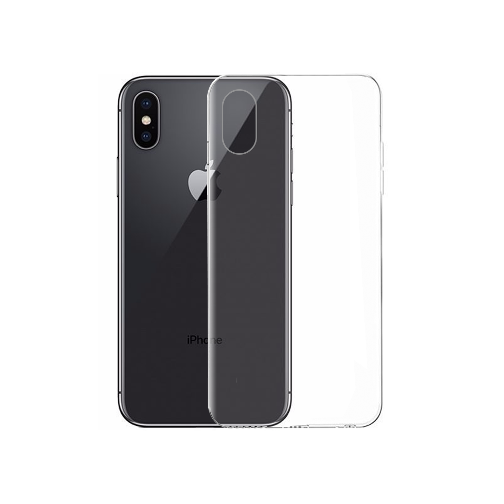 OEM Silicone case For Apple iPhone X, Slim, Transparent - 51589