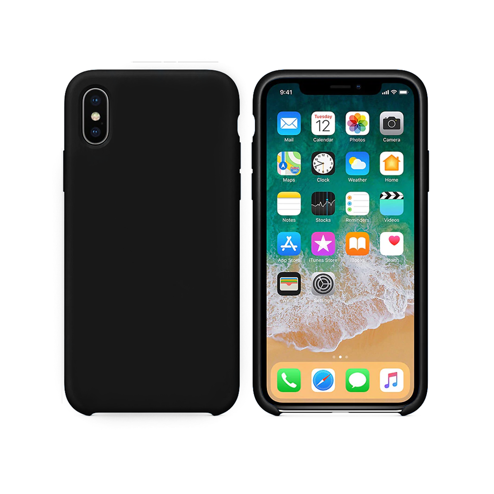 OEM Silicone case For Apple iPhone X/XS, Soft touch, Black - 51645