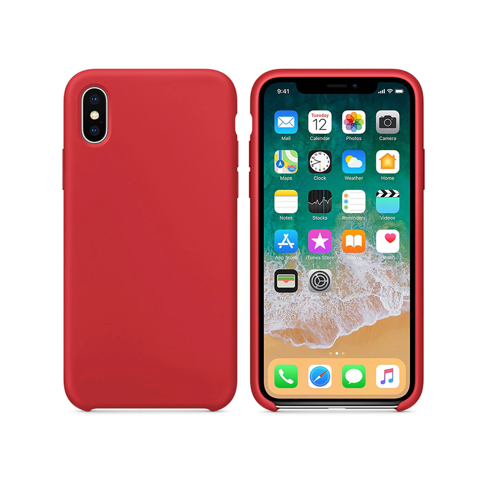 OEM Silicone case For Apple iPhone X/XS, Soft touch, Red - 51648