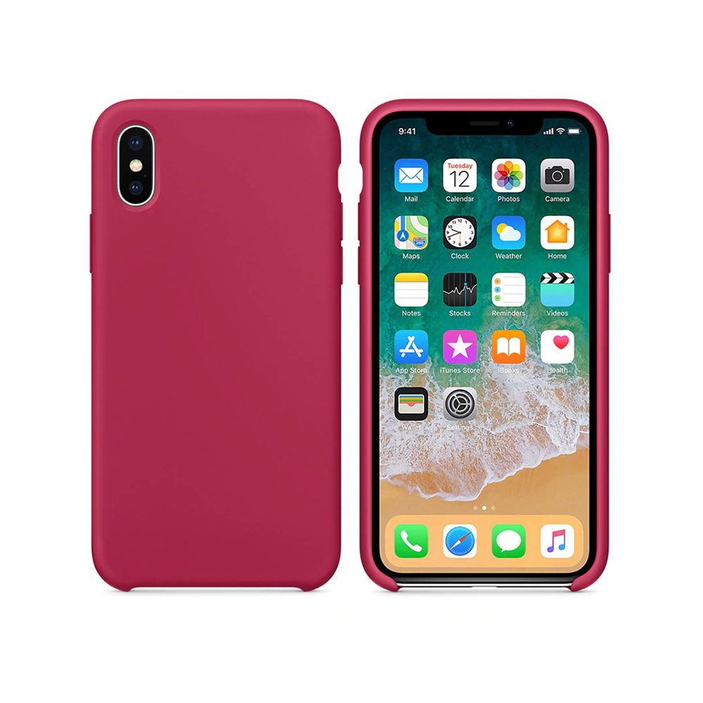 OEM Silicone case For Apple iPhone X/XS, Soft touch, Pink - 51649