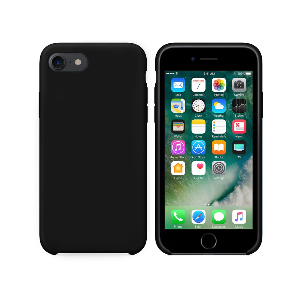 OEM Silicone case For Apple iPhone 7/8, Soft touch, Black - 51650