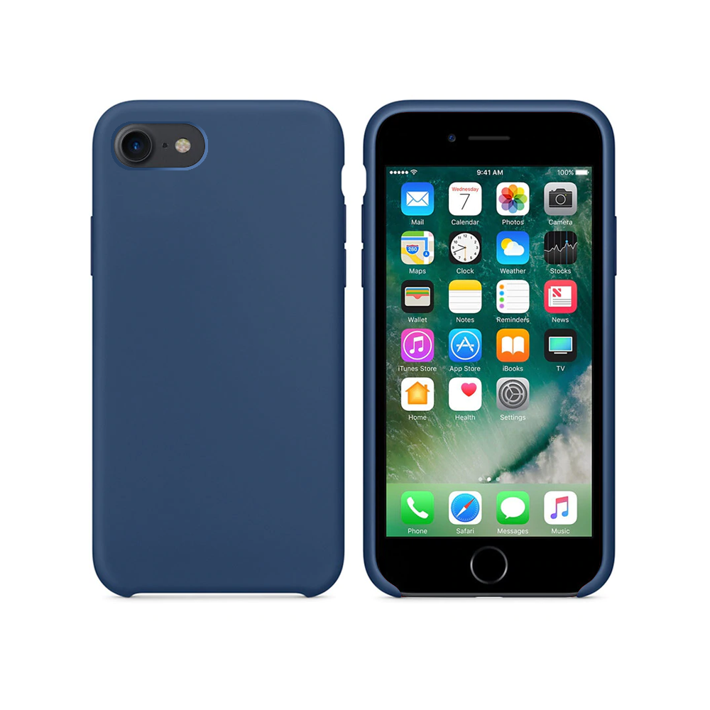 OEM Silicone case For Apple iPhone 7/8, Soft touch, Blue - 51651