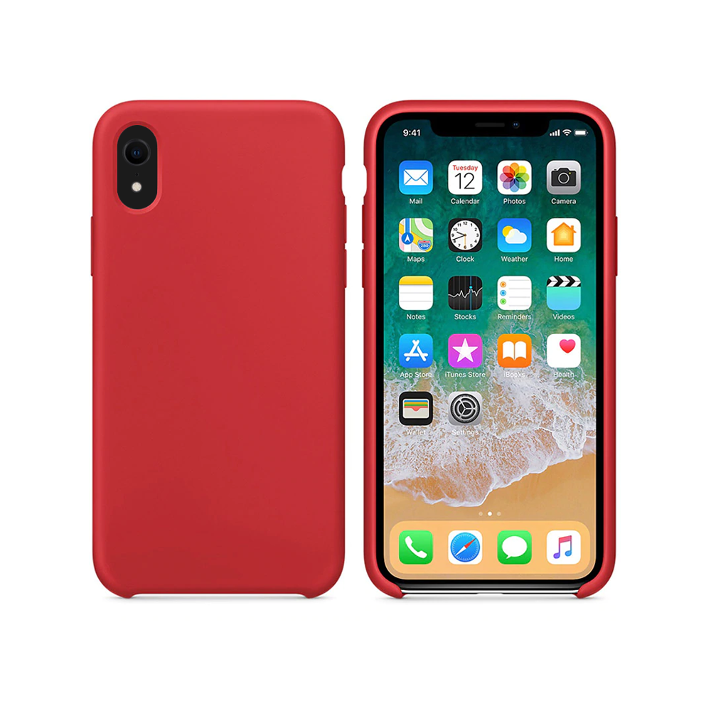OEM Silicone case For Apple iPhone XR, Soft touch, Red - 51658
