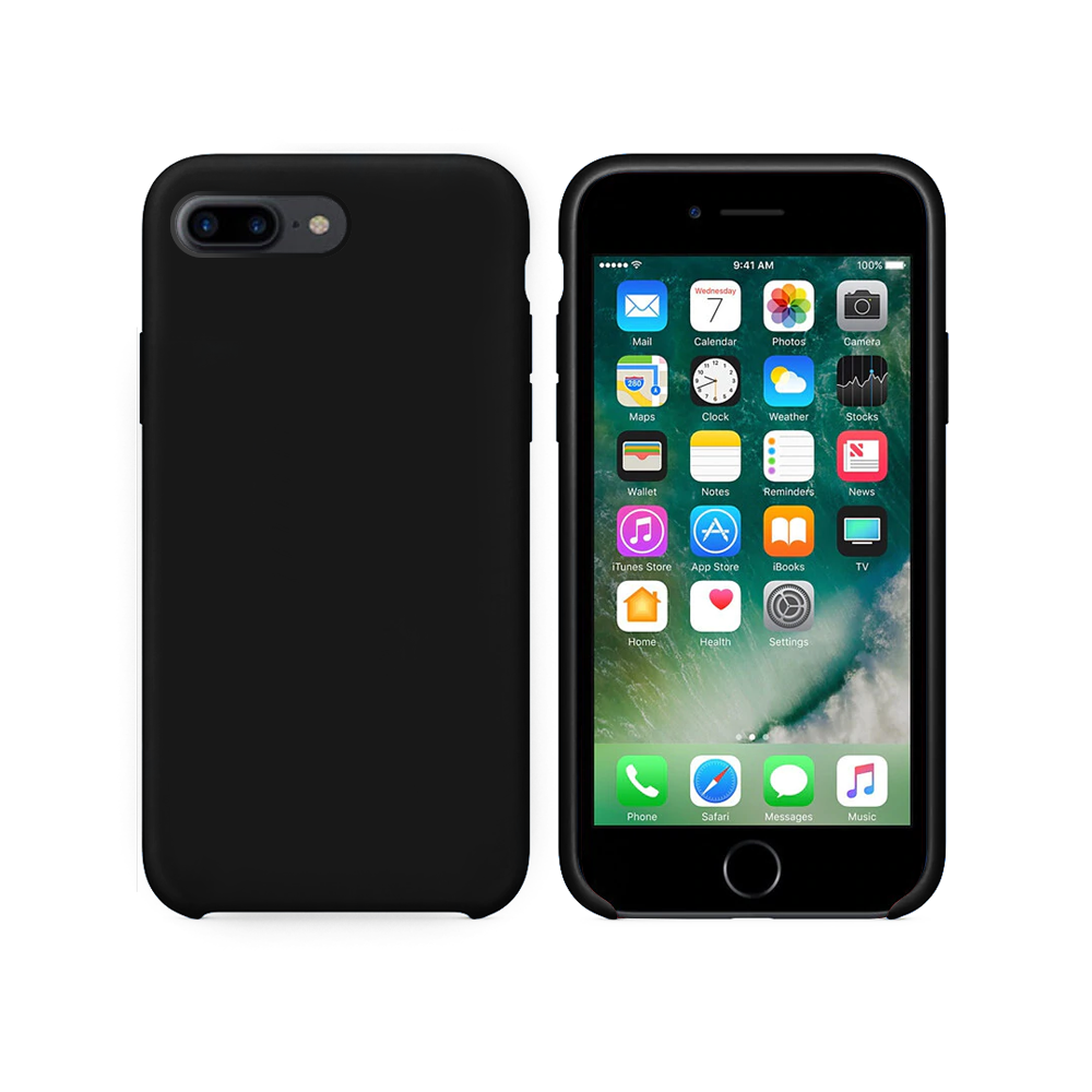 OEM Silicone case For Apple iPhone 7/8 Plus, Soft touch, Black - 51665