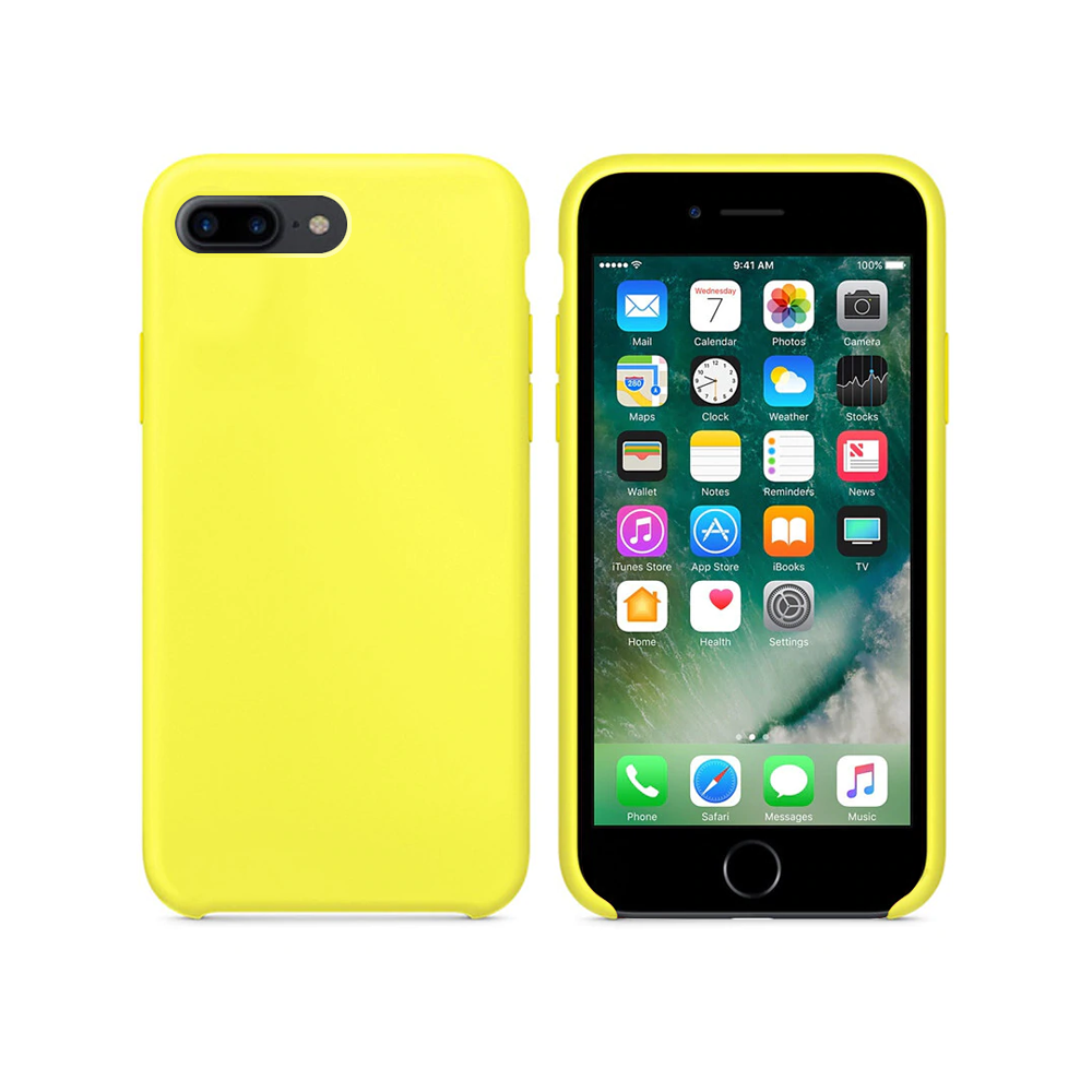 OEM Silicone case For Apple iPhone 7/8 Plus, Soft touch, Yellow - 51667