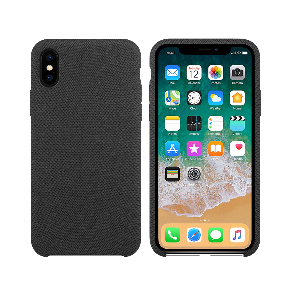 OEM Silicone case For Apple iPhone X/XS, Hiha, Gray - 51670