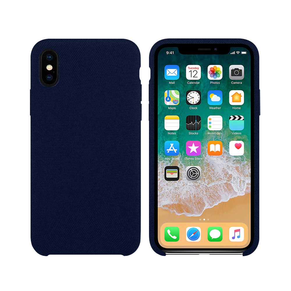 OEM Silicone case For Apple iPhone X/XS, Hiha, Blue - 51671