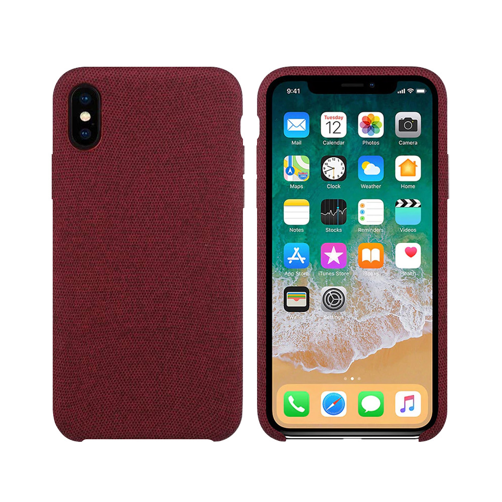 OEM Silicone case For Apple iPhone X/XS, Hiha, Red - 51672