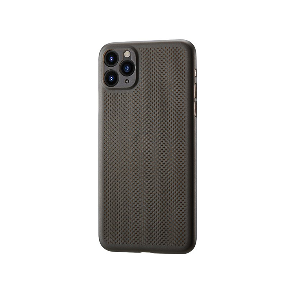 Remax Breathable RM-1678,Case For Apple iPhone 11, Slim, Brown - 51689