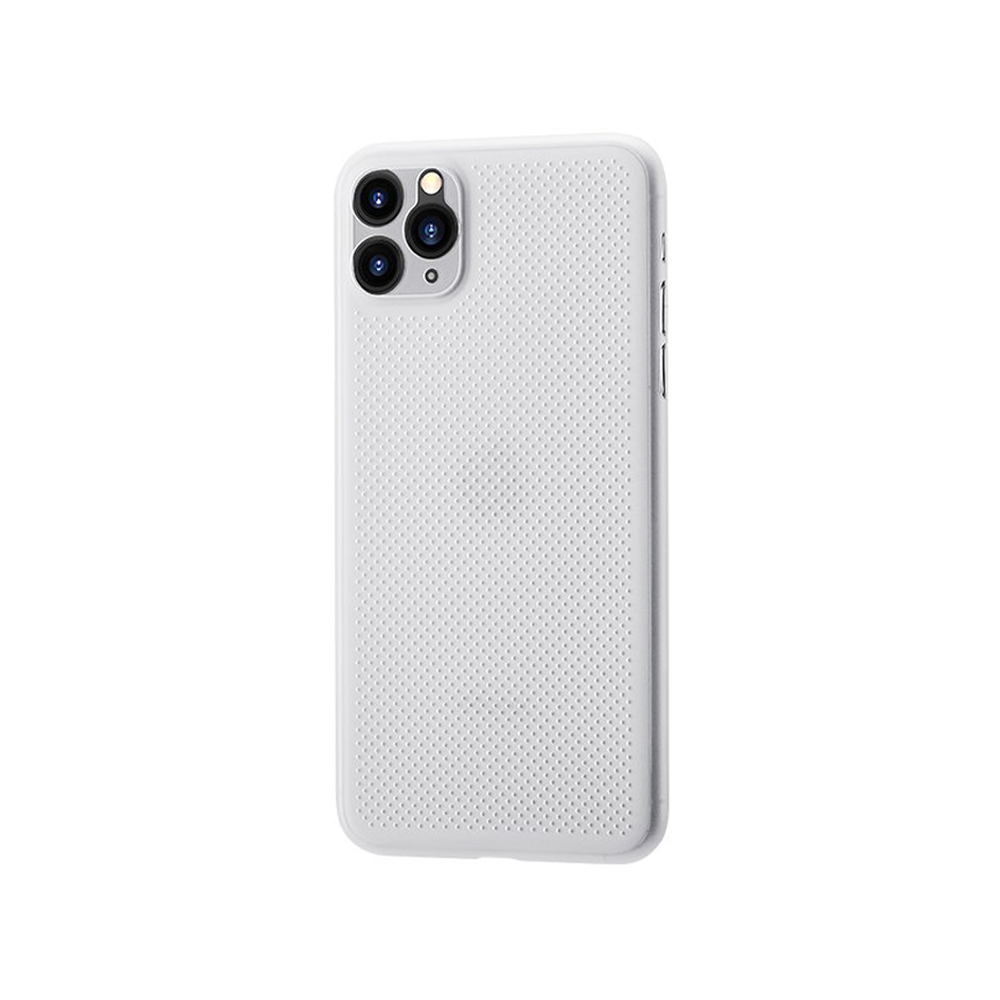 Remax Breathable RM-1678,Case For Apple iPhone 11, Slim, White - 51690