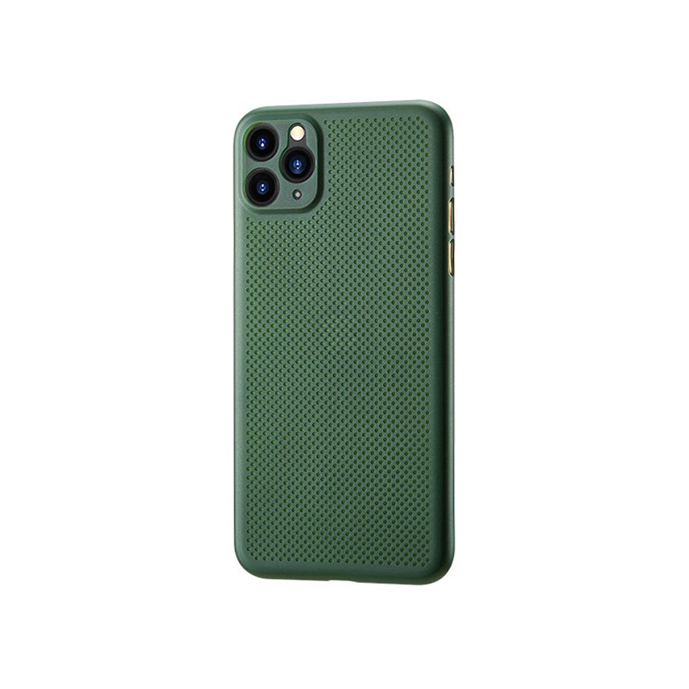 Remax Breathable RM-1678,Case For Apple iPhone 11, Slim, Green - 51691