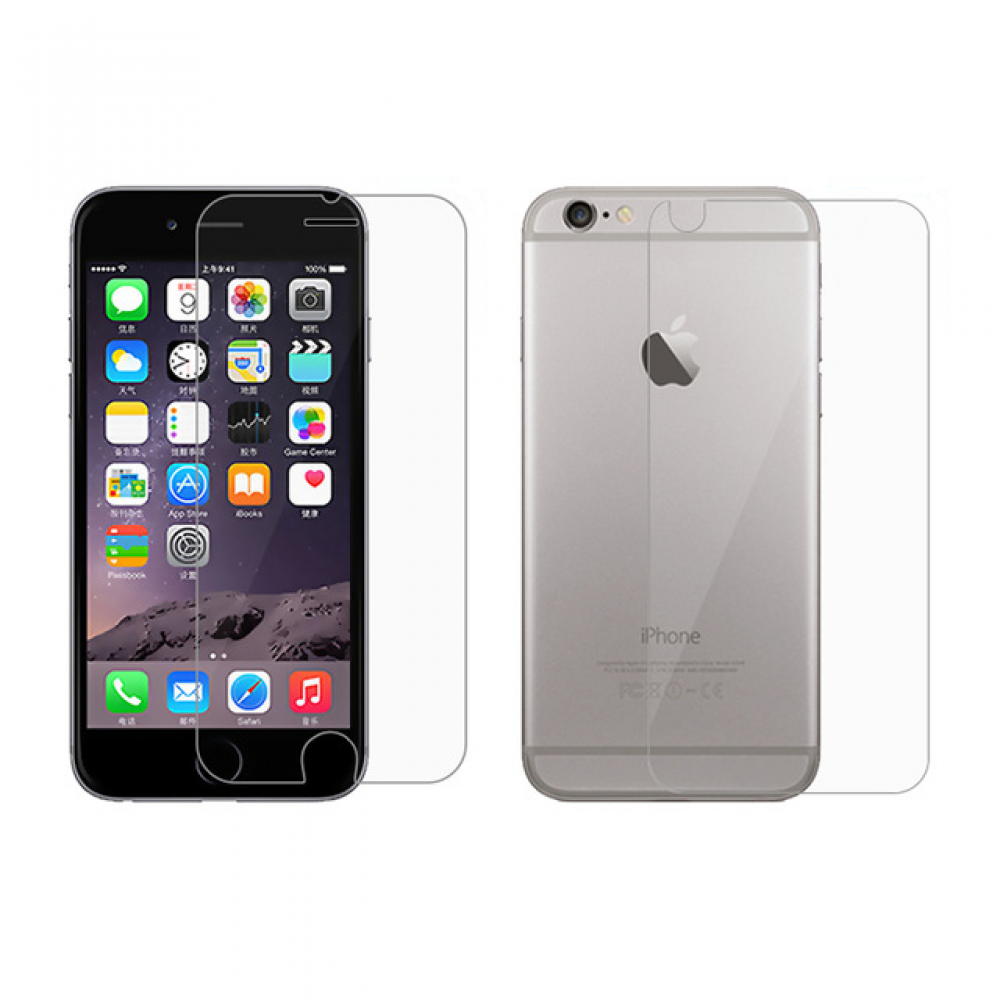 OEM Glass protector For iPhone 6/6S Plus, 2in1, 0.3 mm, Transparent - 52097