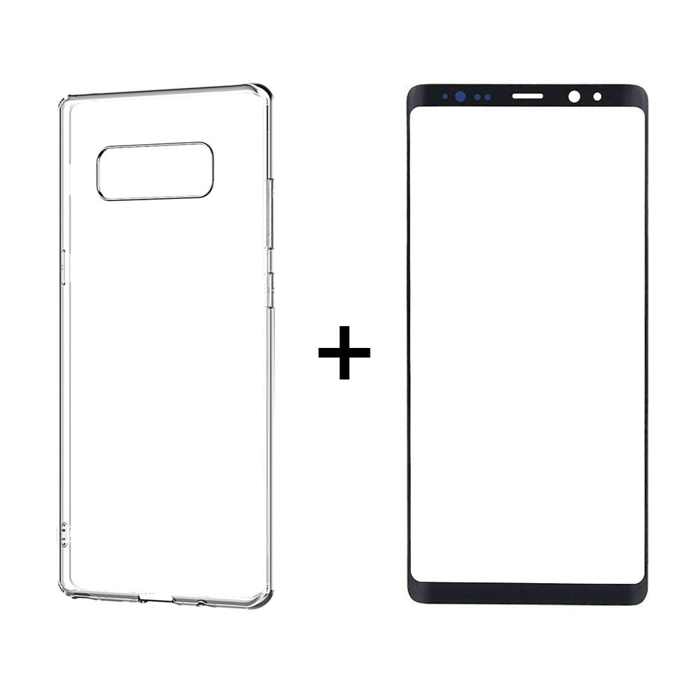 Case Remax Crystal& 3D Glass protector for Samsung Galaxy Note 8, Black - 52364