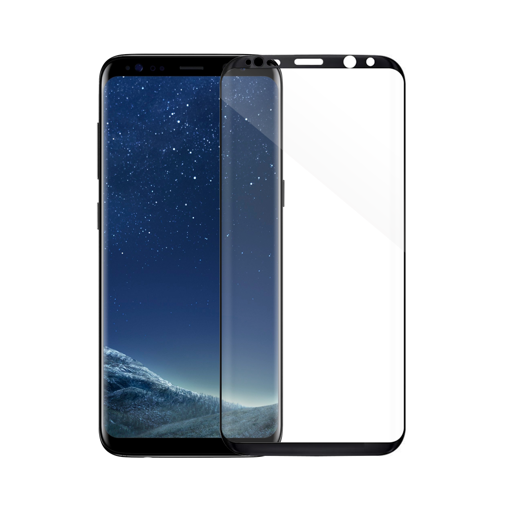 Mocoson Nano Flexible,Tempered glass Full 5D, For Samsung Galaxy S8 Plus, 0.3mm, Black - 52540