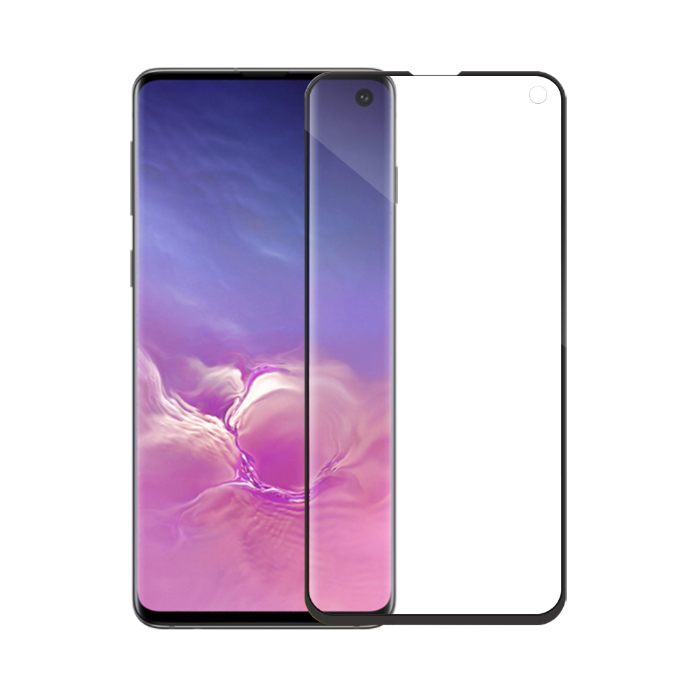 Mocoson Nano Flexible,Tempered glass Full 5D, For Samsung Galaxy S10, 0.3mm, Black - 52541