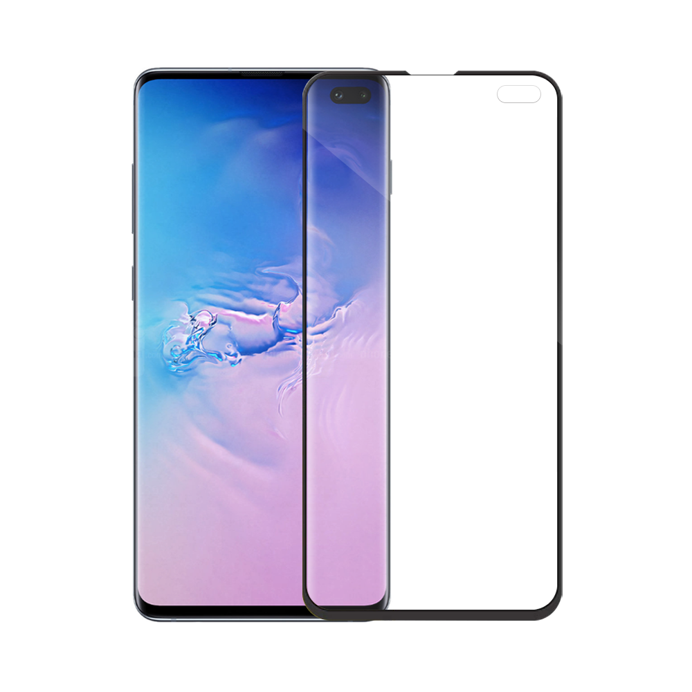 Mocoson Nano Flexible, Tempered glass Full 5D, For Samsung Galaxy S10 Plus, 0.3mm, Black - 52542