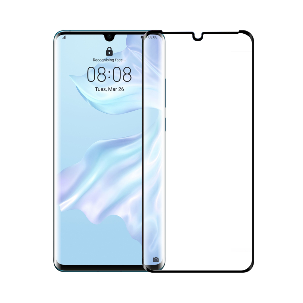 Mocoson Tempered glass Nano Flexible, Full 5D, For Huawei P30 Pro, 0.3mm, Black - 52545