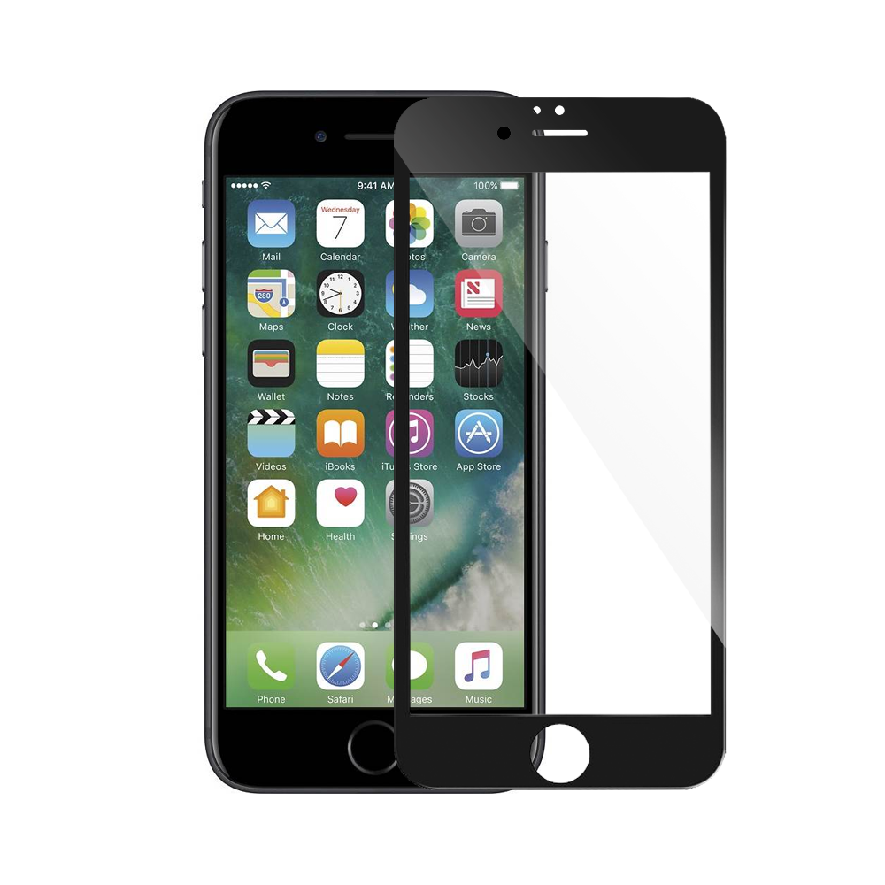 Mocoson Tempered glass for iPhone 7/8 Plus, 5D, Full Glue, 0.3mm, Black - 52639