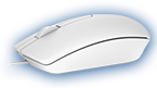 Dell Optical Mouse-MS116 - White - 570-AAIP-14