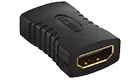 DeTech Adapter HDMI F - HDMI F, Black - 17106