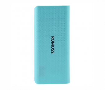Romoss PH50-487-01 Portable Battery sense 4 LED, 10400mAh, 1xUSB 5V/2.1A, 1xUSB 5V/1A, blue