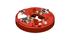 Hochiki YBO-R/3(RED) Wall Mounting Base
