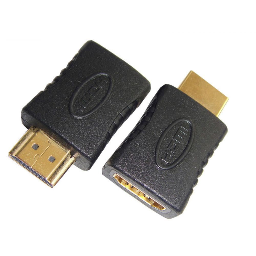 DeTech Adapter HDMI F - HDMI M, Black - 17104
