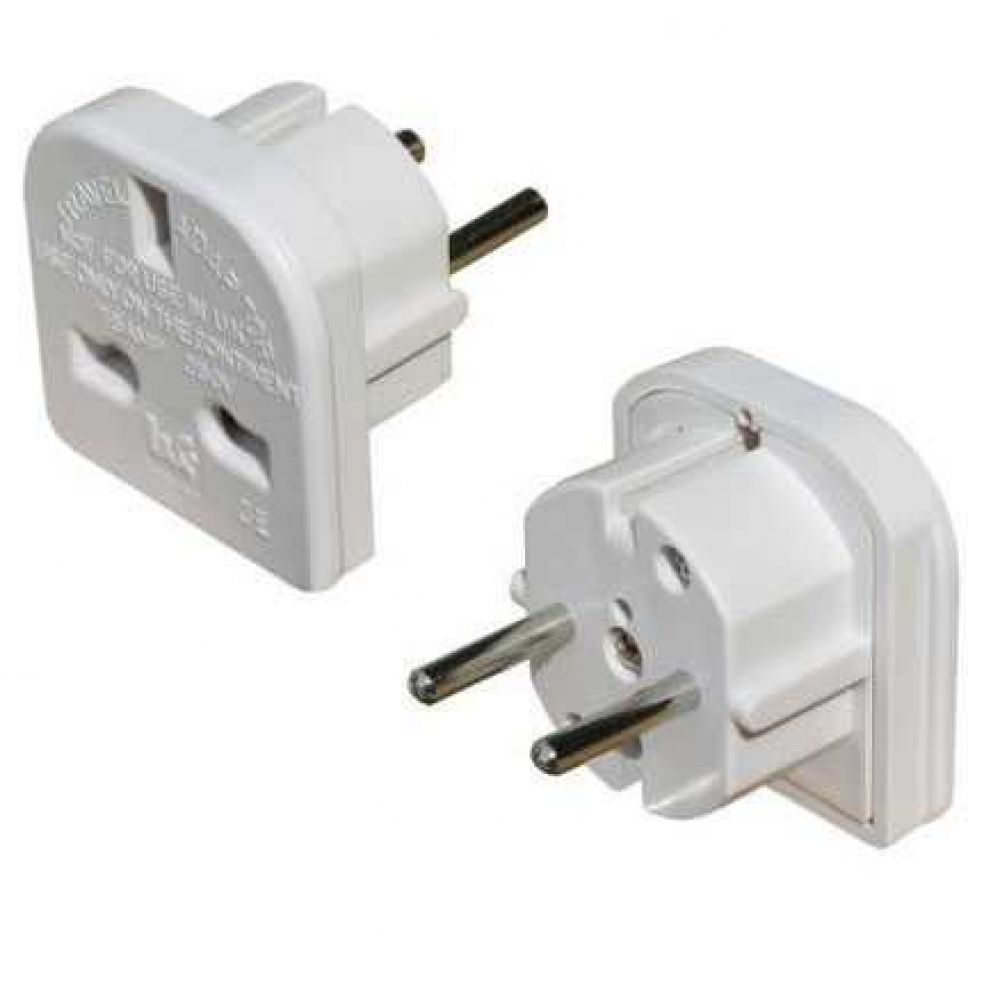 OEM Adapter UK - US to EU Schuko DT 220V, Universal, White - 17107